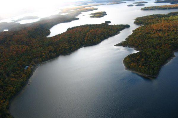 vue aérienne lac Cockanagog